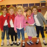 Everyone looked so cute all dressed for a sock hop!